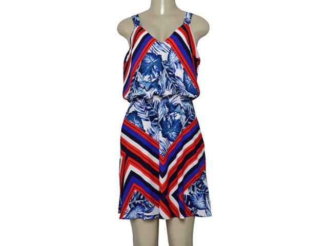 Vestido Feminino Morena Rosa 106101 Azul Estampado