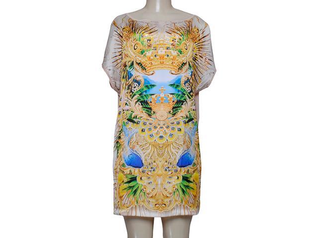 Vestido Feminino Triton 441402617 Off White/amarelo