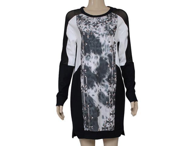 Vestido Feminino Triton 441402261 Estampado Off/preto