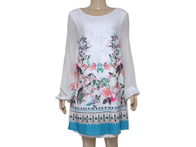 Vestido Feminino Triton 441403055 Off White Estampado Floral