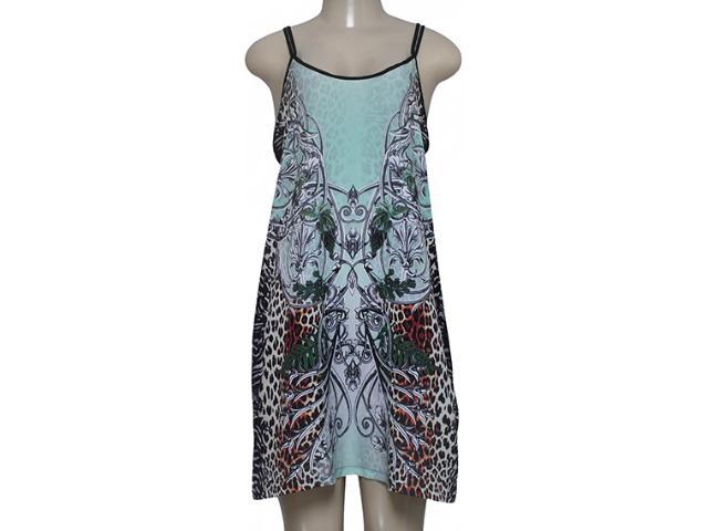Vestido Feminino Triton 441403207 Verde Estampado
