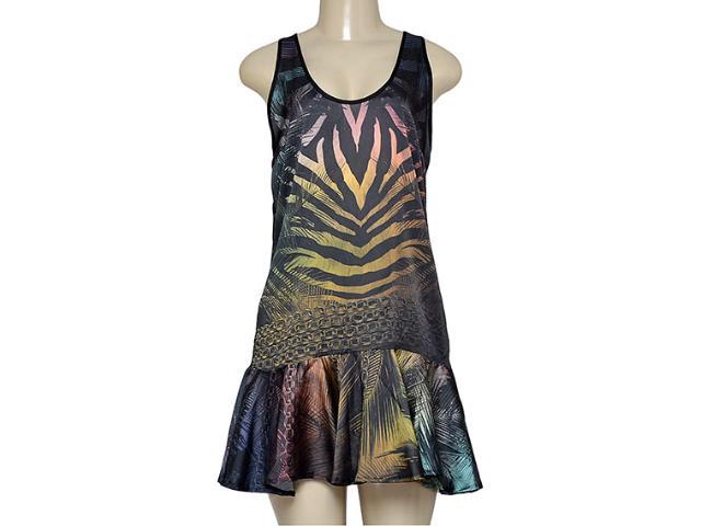 Vestido Feminino Triton 441403362 Preto Estampado