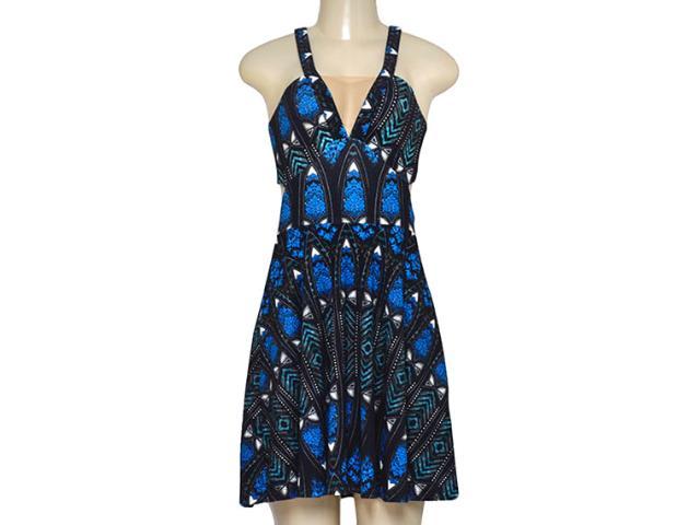 Vestido Feminino Triton 441403349 Estampado Preto/azul