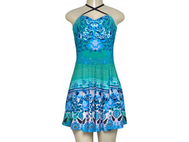Vestido Feminino Triton 441403340 Azul Estampado