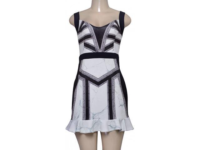 Vestido Feminino Triton 441403251 Off White Estampado