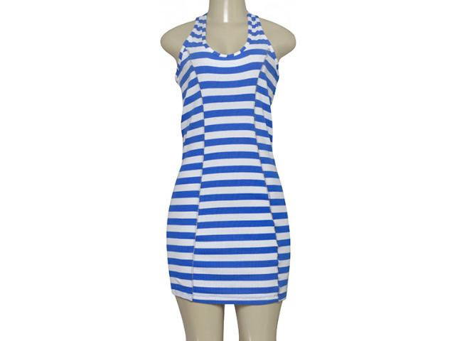 Vestido Feminino Triton 441401488 Listrado Azul