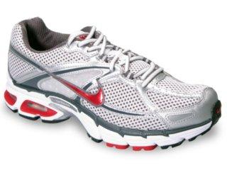 Tênis Masculino Nike Air Max Moto 324910-161 Cinza/vermelho - Tamanho Médio