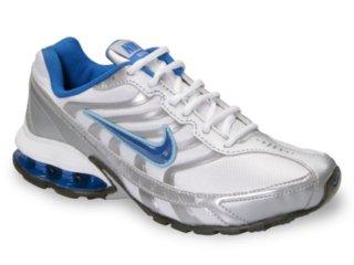 Tênis Feminino Nike 355131  Reax Run Branco/azul - Tamanho Médio
