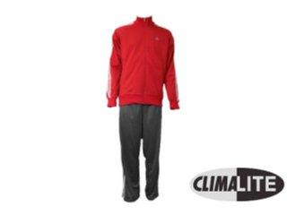 Abrigo Masculino Adidas E14872 Cinza/vermelho - Tamanho Médio