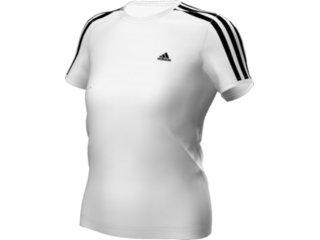 T-shirt Fem Infantil Adidas E13826 Branco - Tamanho Médio