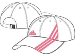 Boné Feminino Adidas 515613 Branco/rosa - Tamanho Médio