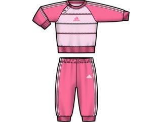 Conjunto Fem Infantil Adidas E82506 Rosa - Tamanho Médio