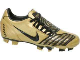 Chuteira Masculina Nike Total Shoot 318887-701 Preto/dourado - Tamanho Médio