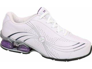 Tênis Feminino Tryon Elite Branco/violeta - Tamanho Médio