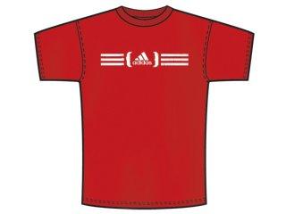 Camiseta Masculina Adidas P25457 Vermelho - Tamanho Médio