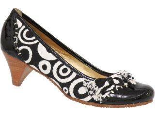 Sapato Feminino Cravo e Canela Cravo & Canela 57906/5697 Branco/preto - Tamanho Médio