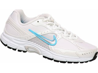 Tênis Feminino Nike Dart Vii 373474-101 Branco/azul - Tamanho Médio