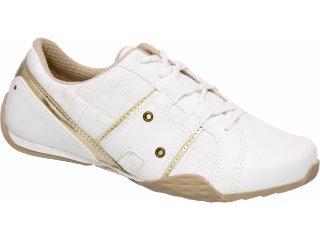 Tênis Feminino Kolosh 7721 Branco/ouro - Tamanho Médio