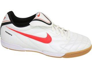 Tênis Masculino Nike Tiempo Iii 366206-161 Branco/vermelho - Tamanho Médio