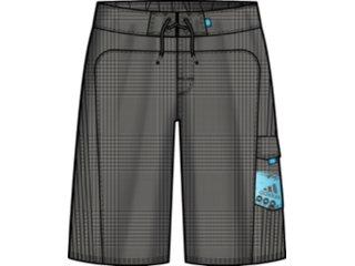 Bermuda Masculina Adidas E80100 Xadrez Cinza - Tamanho Médio