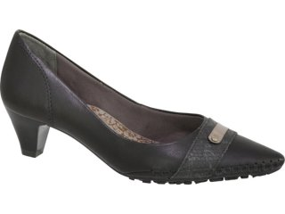 Sapato Feminino Ramarim 97221 Preto/prata Velha - Tamanho Médio