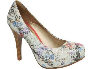 Sapato Feminino Tanara 0611 Florido - Tamanho Médio