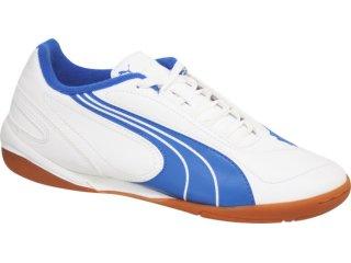 Tênis Masc Infantil Puma 101567 Branco/azul - Tamanho Médio
