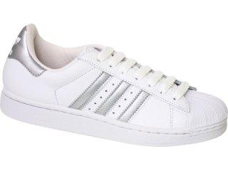 Tênis Feminino Adidas Star ii G29800 Branco/prata - Tamanho Médio
