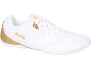 Tênis Feminino Diadora 300797 Branco/dourado - Tamanho Médio