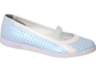 Sapatilha Feminina Diadora 350617 Azul/branco - Tamanho Médio