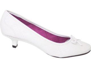 Sapato Feminino Moleca 5572105 Branco - Tamanho Médio