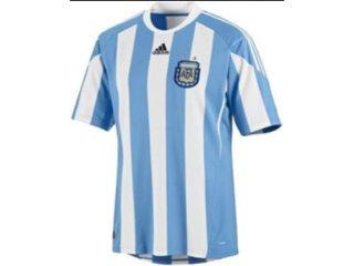 Camiseta Masculina Adidas P79919 Argentina Branco/azul - Tamanho Médio