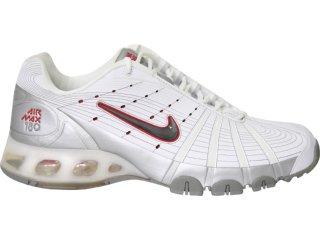 Tênis Masculino Nike 314592 Branco/prata - Tamanho Médio