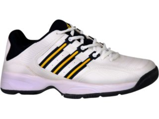 Tênis Masculino Adidas 598543 Branco/amarelo - Tamanho Médio