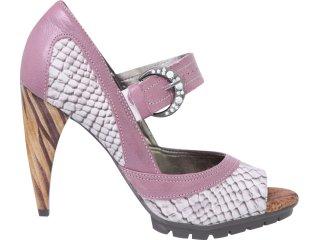 Sapato Feminino Tanara 0902 Gelo/rosa - Tamanho Médio