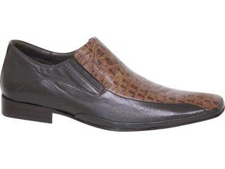 Sapato Masculino Ferracini 4063 Tabaco - Tamanho Médio
