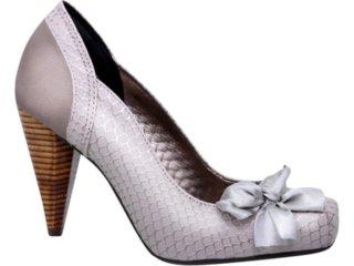 Sapato Feminino Tanara 0981 Gelo - Tamanho Médio
