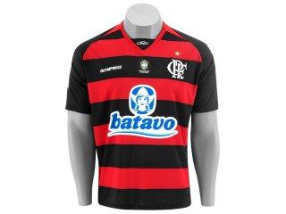 Camisa Masculina Olympikus Flamengo 06000v Preto/vermelho - Tamanho Médio