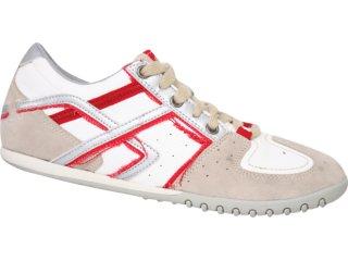 Tênis Masculino Hetane 8801 Bege/branco/vermelho - Tamanho Médio