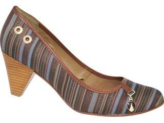 Sapato Feminino Cravo e Canela Cravo & Canela 58020/8231 Listrado - Tamanho Médio