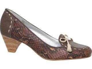 Sapato Feminino Tanara 0972 Chocolate - Tamanho Médio