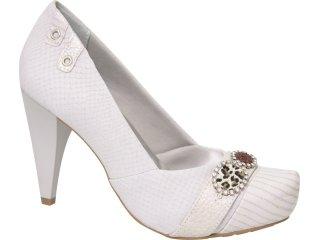 Sapato Feminino Ramarim 1023105 Gelo - Tamanho Médio