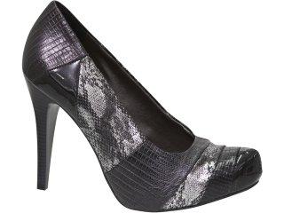 Sapato Feminino Via Marte 10-8405 Preto - Tamanho Médio