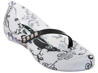 Sapatilha Feminina Grendene 16085 Crepusculo Branco - Tamanho Médio