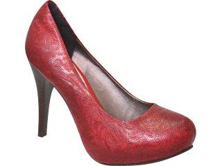 Sapato Feminino Tanara 0942 Vermelho - Tamanho Médio