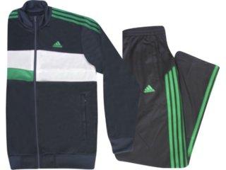 Abrigo Masculino Adidas P45503 Marinho/bco/verde - Tamanho Médio