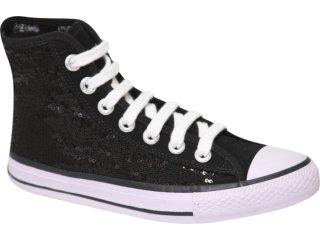 Tênis Feminino Coca-cola Shoes C01006001 Preto - Tamanho Médio