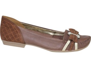 Sapato Feminino Dakota 1612 Amendoa - Tamanho Médio