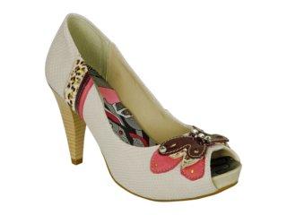 Sapato Feminino Ramarim 1020104 Gelo - Tamanho Médio
