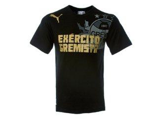 Camiseta Masculina Grêmio C2077m Exercito Gremista Preto - Tamanho Médio